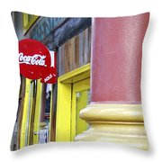 Coca Cola In St. Louis Throw Pillow
