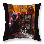 Coca Cola Lunch Throw Pillow