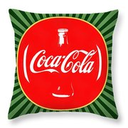 Coca Cola Pop Art  Throw Pillow