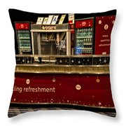 Coca Cola Refreshment Stand Throw Pillow