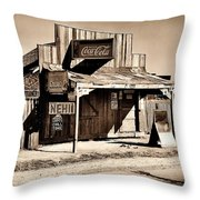 Coca Cola Shack Throw Pillow