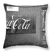 Coca-cola Sign Throw Pillow