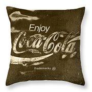 Coca Cola Sign Throw Pillow