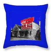 Coca-cola  Sign Palace Cafe Sumter South Carolina 1912-2013   Throw Pillow