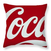 Coca Throw Pillow