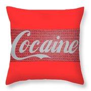 Cocaine Throw Pillow