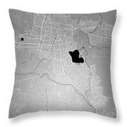 Cochabamba Street Map - Cochabamba Bolivia Road Map Art On Color Throw Pillow