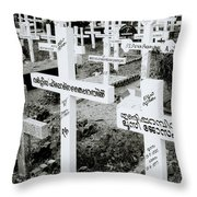 Cochin Cemetery  Throw Pillow