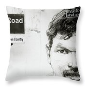 Street Art In Cochin Throw Pillow