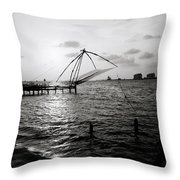 Dusk At Cochin Throw Pillow