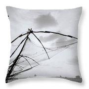 Sunset Over Cochin Throw Pillow
