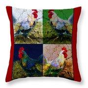 Cock 2 Throw Pillow