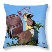 Cock Of The Roost Throw Pillow