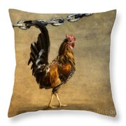 Cock Of The Walk Throw Pillow