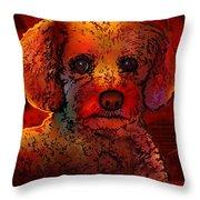 Cockapoo Dog Throw Pillow