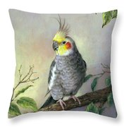 Cockatiel Throw Pillow