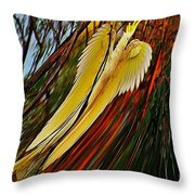 Cockatoo In Abstract Throw Pillow