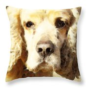 Cocker Spaniel Art - Mellow Yellow Throw Pillow