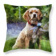 Cocker Spaniel Outside 04 Throw Pillow