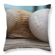 Cockle And Sea Urchin Throw Pillow