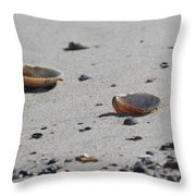 Cockle Shells On Little Island Throw Pillow