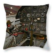 Cockpit Of A P-40e Warhawk Throw Pillow