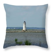 Cockspur Island Light Throw Pillow