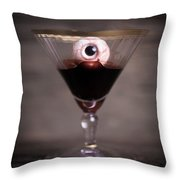 Cocktail For Dracula Throw Pillow