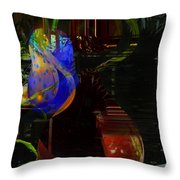 Cocktails By The Pool Throw Pillow