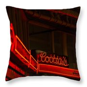 Cocktails In Neon Throw Pillow