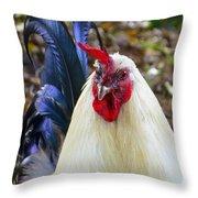 Cocky Cock Throw Pillow