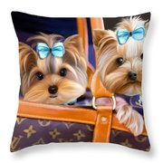 Coco And Lola Throw Pillow