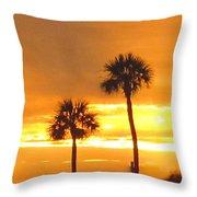 Cocoa Beach Sunset Throw Pillow