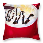 Cocoa Java Coconut Bliss Throw Pillow