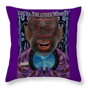 Cocoa The Cyber Monkey Throw Pillow
