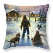 Cocoa Time Throw Pillow