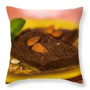 Coconut Almond Squares Throw Pillow