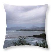Coconut Coast Shoreline Throw Pillow