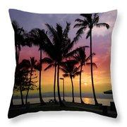 Coconut Island Sunset - Hawaii Throw Pillow
