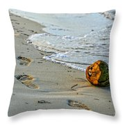 Coconut On The Sand Throw Pillow