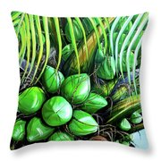 Coconut Tree   Sold Throw Pillow