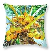 Coconut Series II Throw Pillow