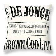 Cod Liver Oil Throw Pillow