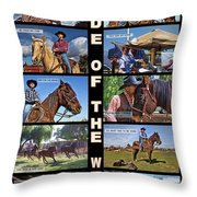Code Of The West Throw Pillow