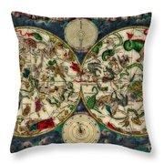 Coeletste Old World Map Throw Pillow