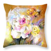Coeur De Rose Throw Pillow