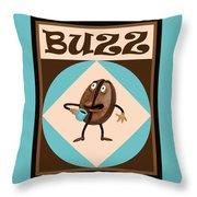 Coffee Buzz Throw Pillow by Amy Vangsgard