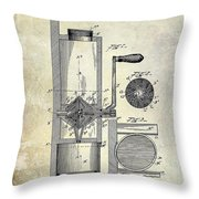 Coffee Mill Patent 1893 Throw Pillow