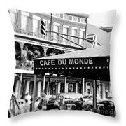 Coffee And Beignets Throw Pillow