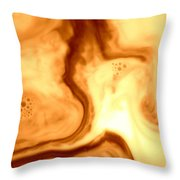 Coffee Art Throw Pillow by Riad Belhimer